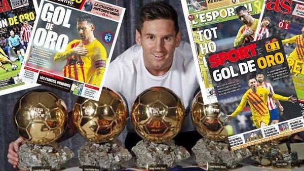 La prensa española, a los pies de Messi y a la espera del Balón de Oro